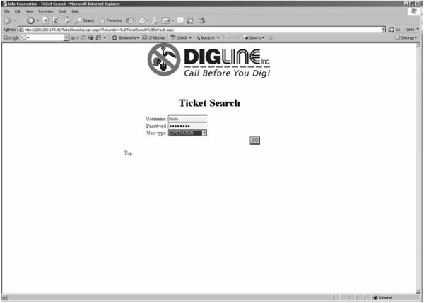 Login to Ticket Search