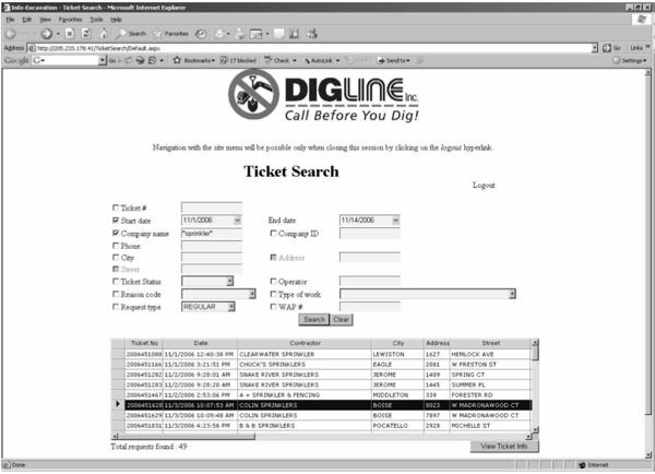 Search Tickets